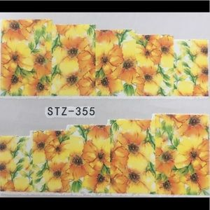 Other - NWT Nail Art Waterslide Tattoos in Yellow Daisies